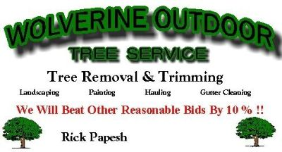 **Wolverine Tree Services**Will Beat Other Bids By 10% **352-355