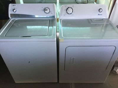 Amana Washer and dryer electric heavy duty large capacity great condition