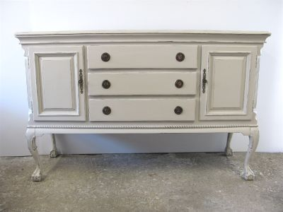 Painted Antique Style Buffet Credenza Dresser