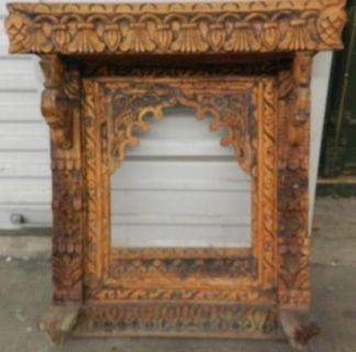 Wooden Carved Window MirrorPicture Frame