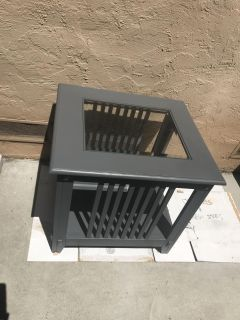 Dark gray side accent table