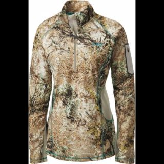 NEW Cabela's OutfitHER Lewiston Camouflage 1/4-Zip Pullover