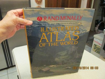 Vintage Illustrated Atlas Of The World By Rand McNally - Great Coffee Table Book