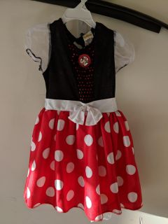 Minnie Mouse Costume, Size 4-6x
