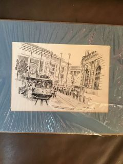 Dale Perkins drawing and all it needs it is a frame. 11 by 14 in excellent condition