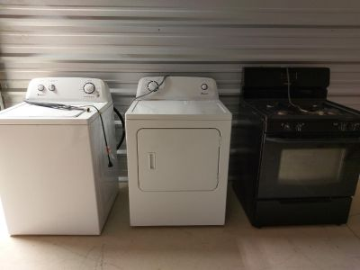 Stove, washer, dryer $100 each