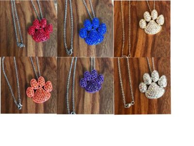 CRYSTAL PET PAW NECKLACES