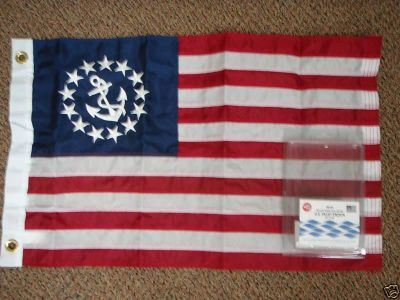 Buy BOATING YACHT FLAG SEWN US YACHT ENSIGN FLAG 328124 motorcycle in Osprey, Florida, US, for US $29.95
