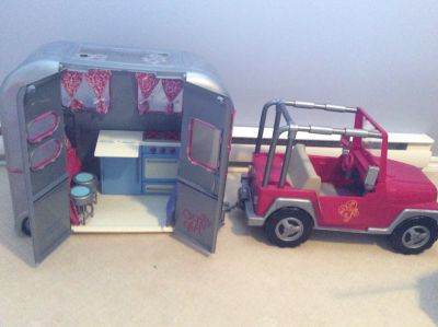 Our Generation Doll Jeep and Trailer