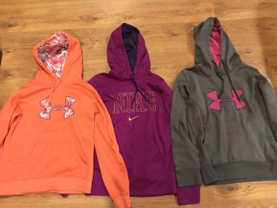 Name brand women s size small hoodies