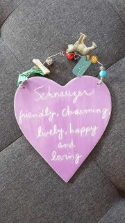 Adorable decor piece for the Schnauzer Owner!