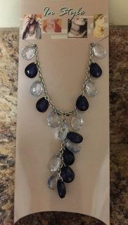 Beaded Necklace Blk/Clear