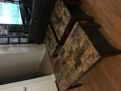 Faux Mable Coffee Table and End Tables