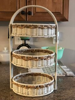 Wicker 3 tier stand