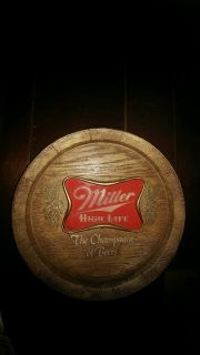 MILLER HIGH LIFE BEER BARREL SIGN/ HOME BAR / MAN CAVE / RARE!!