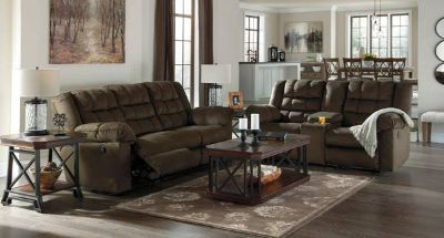 Signature Design Reclining Sofa and Loveseat