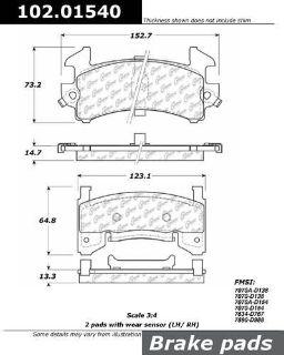 Buy CENTRIC 102.01540 Brake Pad or Shoe, Front-Standard Metallic Brake Pad motorcycle in Saint Paul, Minnesota, US, for US $17.06