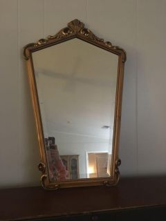 Gold and Wooden Antique mirror