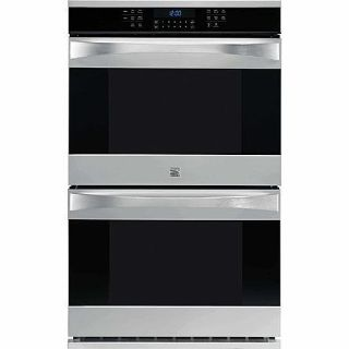 $1,299, New Scratch  Dent Kenmore Elite 30 Electric Double Wall Oven in Stainless Steel