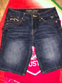 Justice Simply Low Blue Jean Shorts. Nice Condition. Size 12