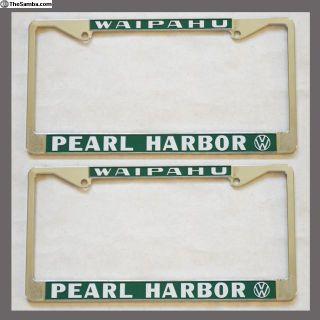 2 Waipahu Pearl Harbor Hawaii License Plate Frames