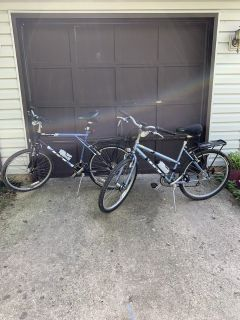 His and hers GT bicycles with upgrades