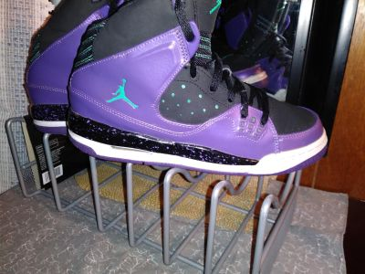 Blk/Pur/Teal Basketball Shoes