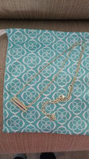 Kendra scott leanor necklace in gold/dichroic glass