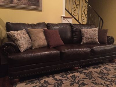 Living room sofa set (4-piece) leatherette