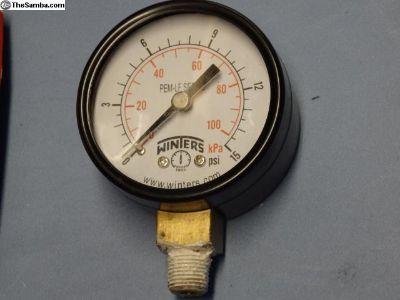Fuel Pressure Gauge 15psi