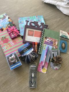 Brand New! Girl things. Watch, hair stuff, note pads, picture frames