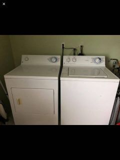 Gas dryer, electric washer