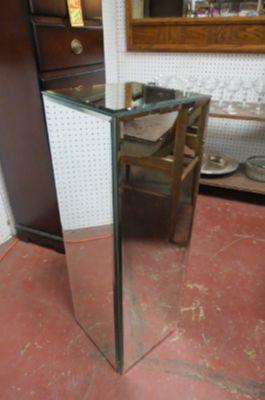 Vintage Mid century modern mirrored pedestal