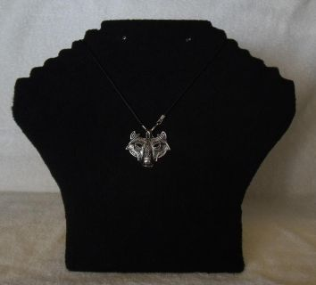 Retro Wolfe Head with Mask Necklace