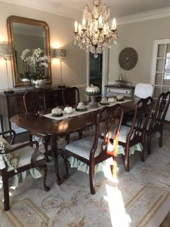 Eight Solid Cherry Pennsylvania House Dining Chairs