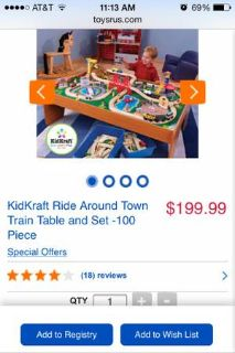 Kidcraft train table and set - 100 piece