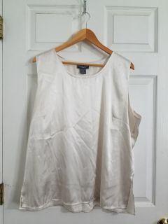 Silky Notations Sleeveless Top Size 2X. Excellent Condition
