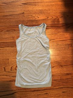 Light blue and white Gap Maternity tank size small