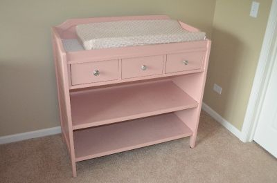 Pink Pottery Barn Changing Table