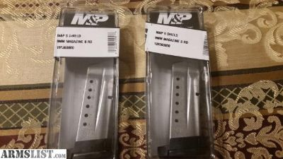 For Sale/Trade: Nib M&P Shield 8 rd 9mm mags