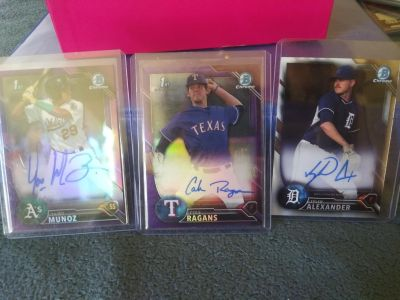Autographed baseball cards