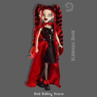 "RARE! Bleeding Edge ""Red Riding Storm"" BeGoths Collectible Doll"