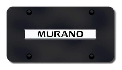 Sell Nissan Murano Name Chrome on Black License Plate Made in USA Genuine motorcycle in San Tan Valley, Arizona, US, for US $33.38