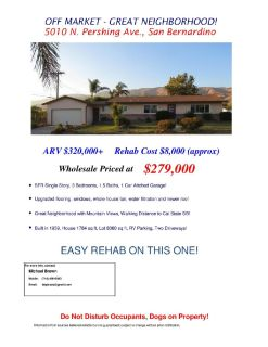 Off Market Wholesale Opportunity