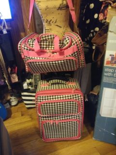 Matching Suit case with duffle bag and 2 makeup boxes