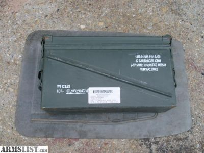 For Sale: Empty Ammo cans 40mm and 7.62mm