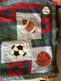Quilted pillow sham Sports