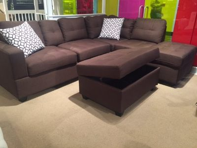 SALE! CONTEMPORARY SOFA CHAISE SECTIONAL WITH STORAGE !