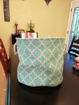 Cute storage bin or laundry hamper