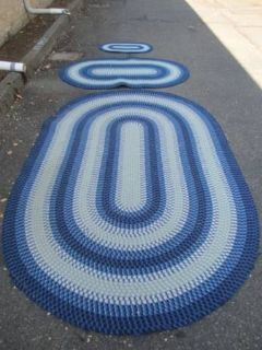 Beautiful Set of Three Braided Area Rugs - Delivery Available